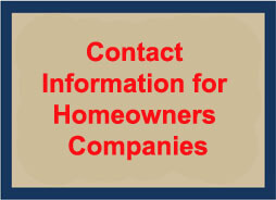 Contact Information for Homeowners Companies